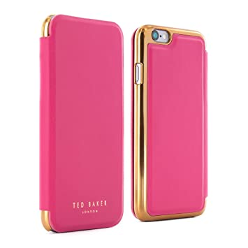 d843ed30ade3e6 Official® Ted Baker SS16 SHANNON Luxury Folio Case for iPhone 6 6S - Fuchsia