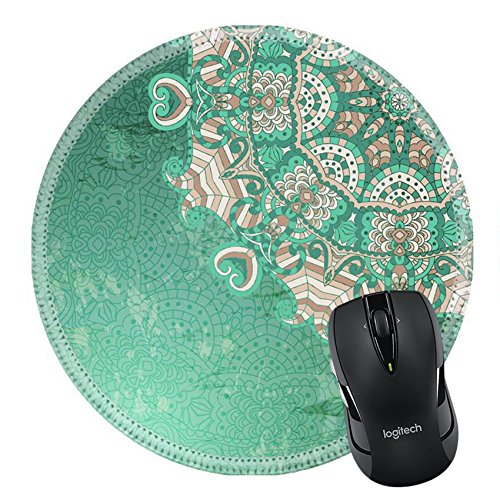 MSD Natural Rubber Mousepad Round Mouse Pad 24068678 Vintage pattern Hand drawn abstract background Decorative retro banner Hand Drawn Personalized Christmas Cards