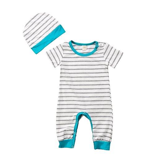 272b79349 Amazon.com  Newborn Baby Boys Girls Romper Clothes Infant Kids Short ...