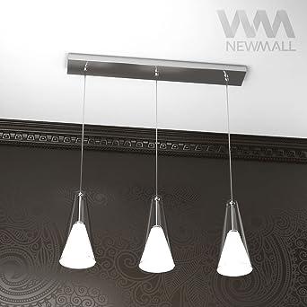 lampadario a sospensione barra 60cm 3 luci kula-3 lampade per sala ... - Illuminazione Soggiorno E Sala Da Pranzo 2