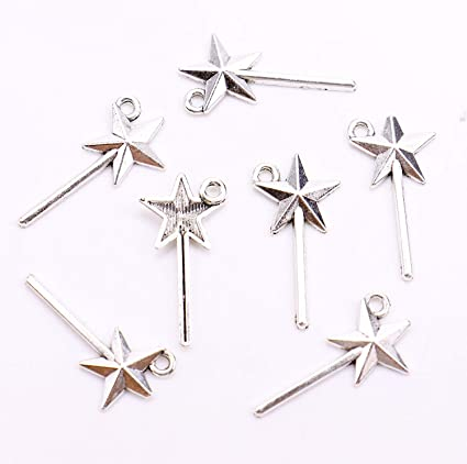 Star Antique Silver Tone Tibetan charms Christmas Craft Magic Small