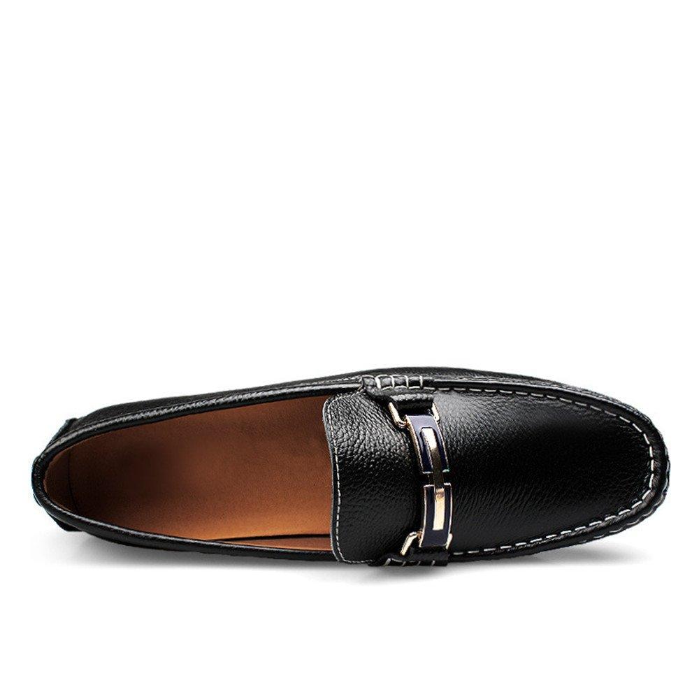 Für Herren die neue Mode 2018, Herren Für Driving Loafers Volltonfarbe Penny Stiefelschuhe Gummisohle Casual Mokassins Schwarz 9243ec