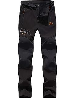 Pantalones de Trekking Hombre Pantalones de Softshell ...