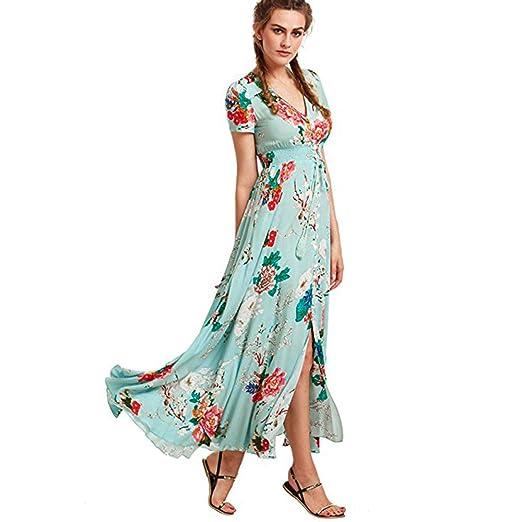 54f7ab53f15b6 Amazon.com: Women Tunic Tops Dresses On Sale Lady Floral Button ...