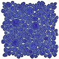 """SomerTile FKOPS144 Boulder Cloud Porcelain Floor and Wall Tile, 11"""" x 11"""", Blue"""