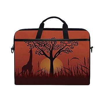 ce81045b3dc Amazon.com  Laptop Computer Bag Giraffe Tree Sun Notebook Shoulder ...