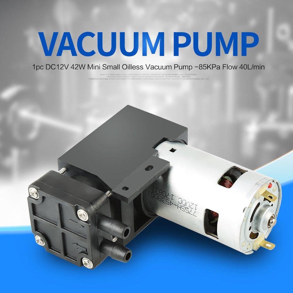 OKBY Vacuum Pump - 1pc DC12V 42W Mini Small Oilless Vacuum Pump -85KPa Flow 40L/min by OKBY (Image #6)