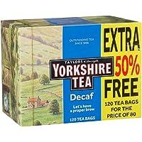 Yorkshire Tea Decaf 120 Tea Bags, NO VAT