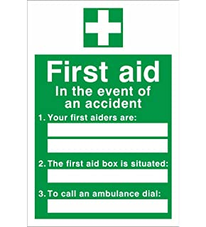 image relating to Printable First Aid Sign referred to as Initial Support Box Package Indicator, 20x10cm, Self-adhesive Vinyl Sticker