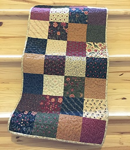Table Topper Runner Patchwork Rustic Primitive Country Farmhouse Quilted