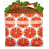 Lunchskins L1-LS1-1U-TANG-C2-OR Reusable Sandwich Bag, Tangerine Orange