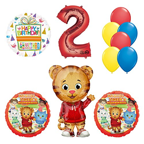 Mayflower Products Daniel Tiger Neighborhood 2nd Birthday Party Supplies and Balloon Decorations AMZKIT742 for $<!--$19.99-->