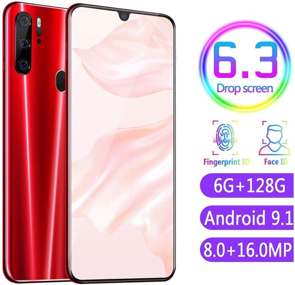 FLKENNEL P35 Smartphone, 6.3 '' Pantalla Gotas de Agua, 4800mAh batería económico Smartphone, teléfono de Doble SIM móvil, Android 9.1 Go