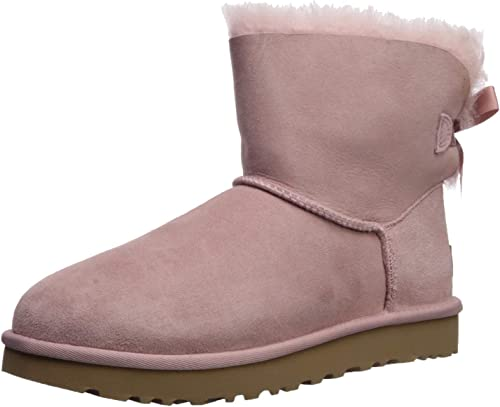 UGG Mini Bailey Bow II Pink Crystal Damen Stiefel
