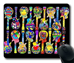Guitar Masterpiece Limited Design Oblong Mouse Pad by Cases & Mousepads