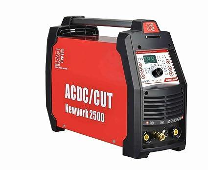 NewYork 2500 - Equipo de soldadura profesional AC/DC WIG 200 Puls con cortador de plasma de aluminio TIG MMA E-Hand Inverter 5 en 1: Amazon.es: Bricolaje y ...