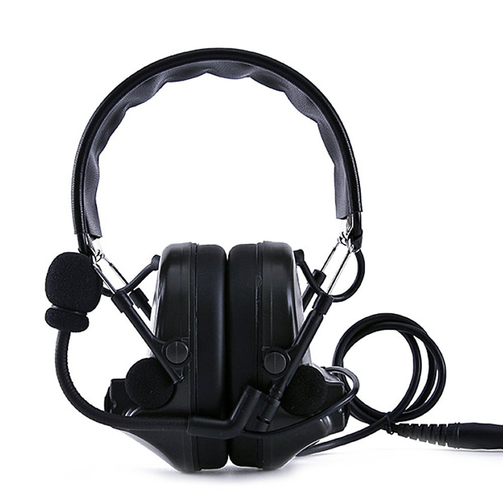 Original Thoradin Comtac II Tactical Headset Noise Reduction Electronic Sound Pickup Safety Ear Muffs with Microphone Gen 3th Chip