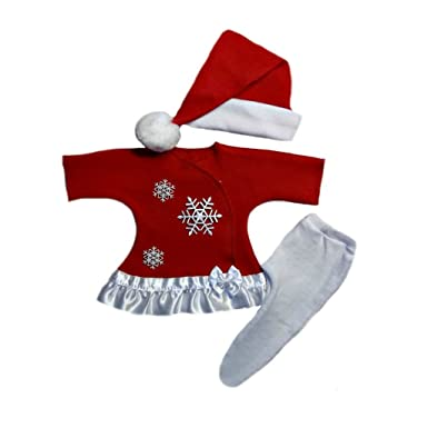 dea67eb34357b Amazon.com: Jacqui's Baby Girls' Snowflake Red Christmas Dress Set ...