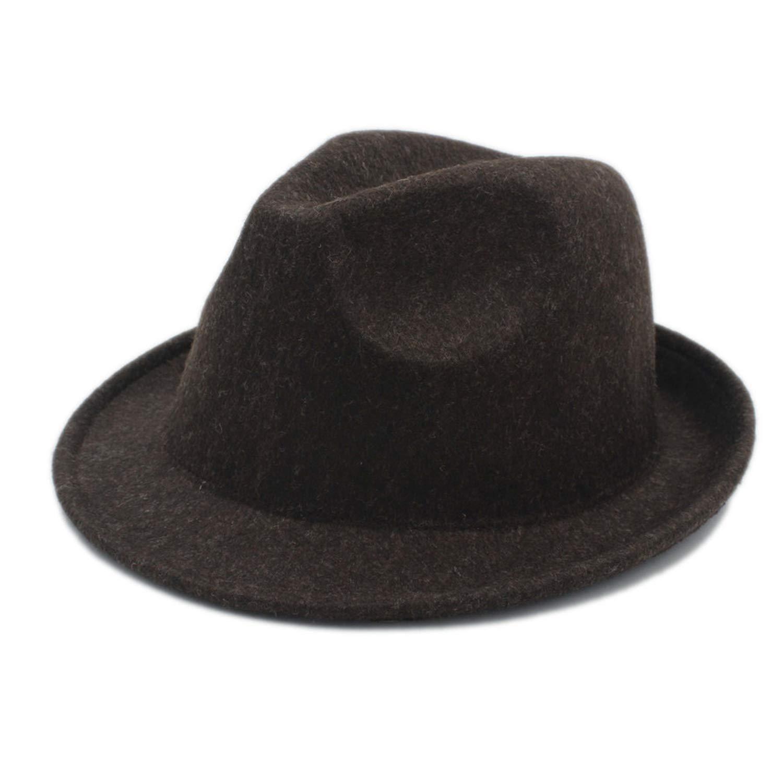 DOSOMI Men Women Wool Fashion 100/% Wool Fedora Hats Unisex Autumn Felt Trilby Dome Church Cloche Cap