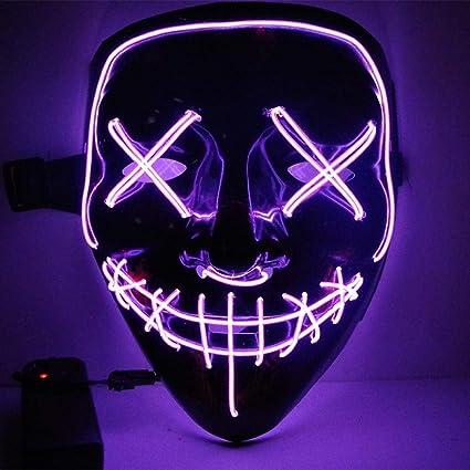 Amazon.com: LED Mask Halloween Party Mask Masquerade Mask ...