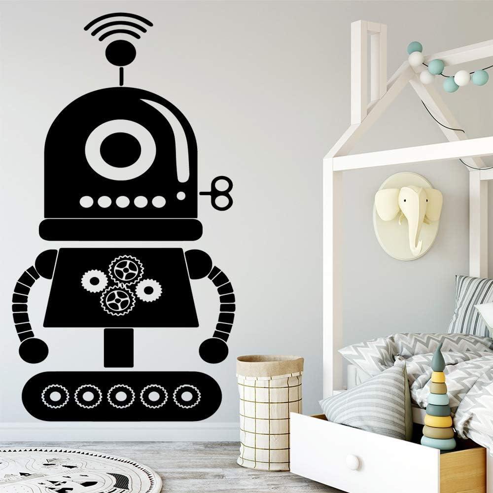 ZRSCL Hot robot Wall Art Decal Wall Sticker Mural para niños niños habitación decoración accesorios dormitorio decoración wallsticker43CMX78CM: Amazon.es: Bricolaje y herramientas
