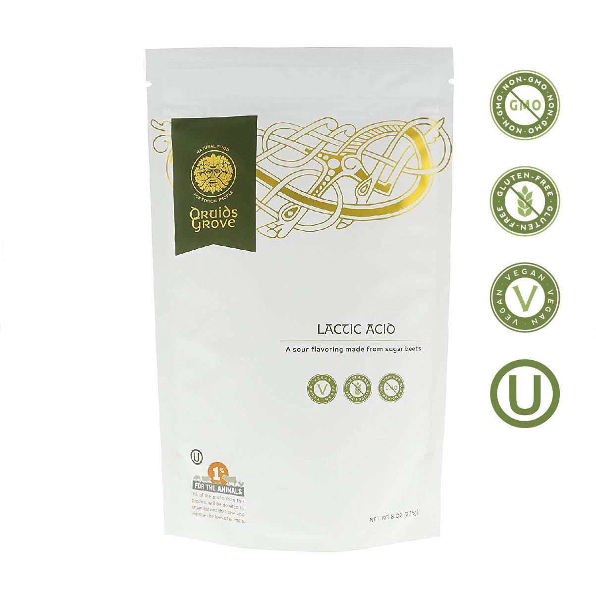 Druids Grove Lactic Acid ☮ Vegan ⊘ Non-GMO ❤ Gluten-Free ✡ OU Kosher Certified - 8 oz.