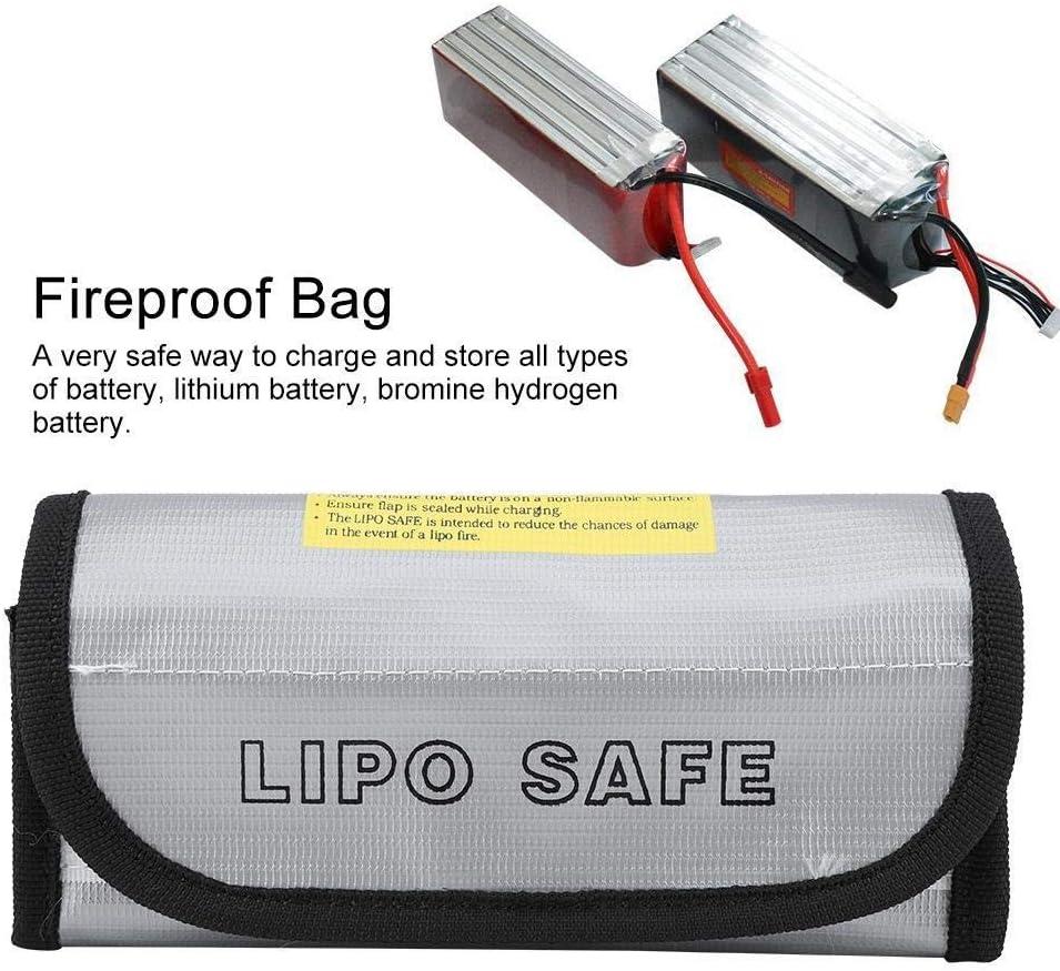 MAGT Leichte Und Tragbare LiPo Akku Explosionsgesch/ützte Sicherheits Taschen Beutel Ladeschutz Sack Feuerbest/ändige Tasche