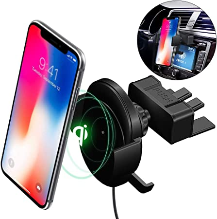 DASHAN 10W QI Wireless Charger Stand, CD Slot Car Mount
