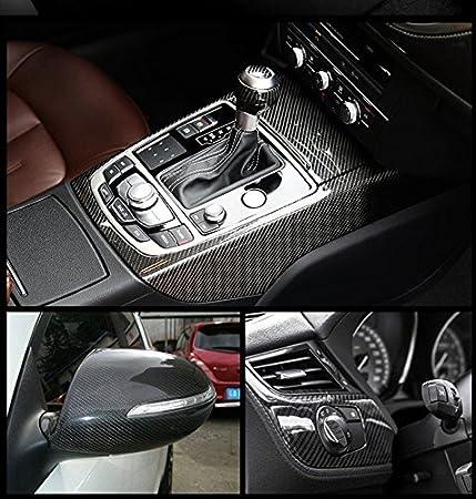 AutoSpeed Premium 5D HIGH Gloss Black Carbon Fiber Vinyl Wrap Bubble Free Air Release 1FTX5FT // 12X60
