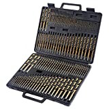 7 16 drill bit long - Power Tools New 115pc HSS High Speed Steel Titanium Drill Bit Set Metal w/ Index Carry Case