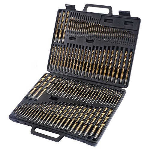 Power Tools New 115pc HSS High Speed Steel Titanium Drill Bit Set Metal w/ Index Carry Case