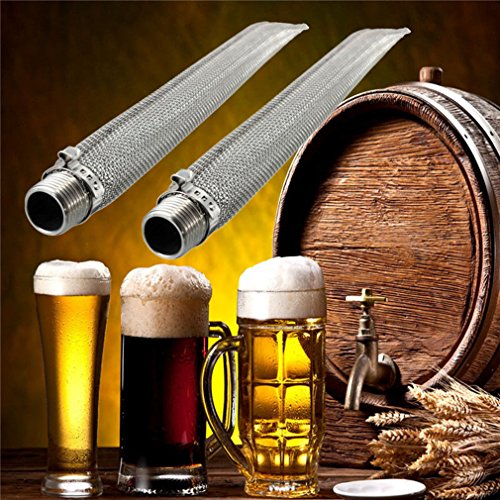 GloryMM Beer Filter Thread Kettle Tube Bazooka Screen Stainless Steel Impurity Filter Cylinder Spigot Pot Filter Boil Screen For Home Brew,Type 1