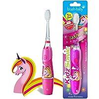 Brush Baby KidzSonic Elektrische tandenborstel voor peuters en kinderen vanaf 3 jaar - Discolichten, zachte trillingen…