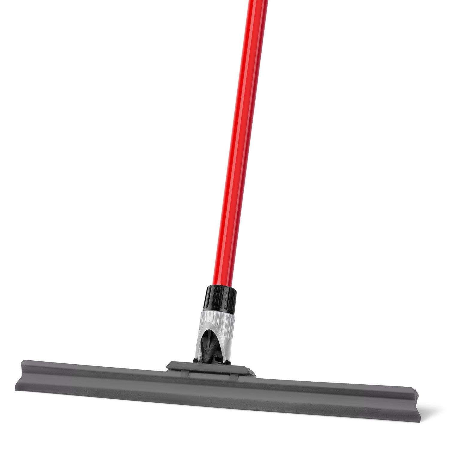 Tyroler Floor Squeegee - Uber Durable Rubber Blade 45 CM Wide - Adjustable Knuckle Joint- Perfect for Wood Tile Marble Concrete & Glass - Lightweight Long 4 Part handle 140 CM Tyroler Bright Tools