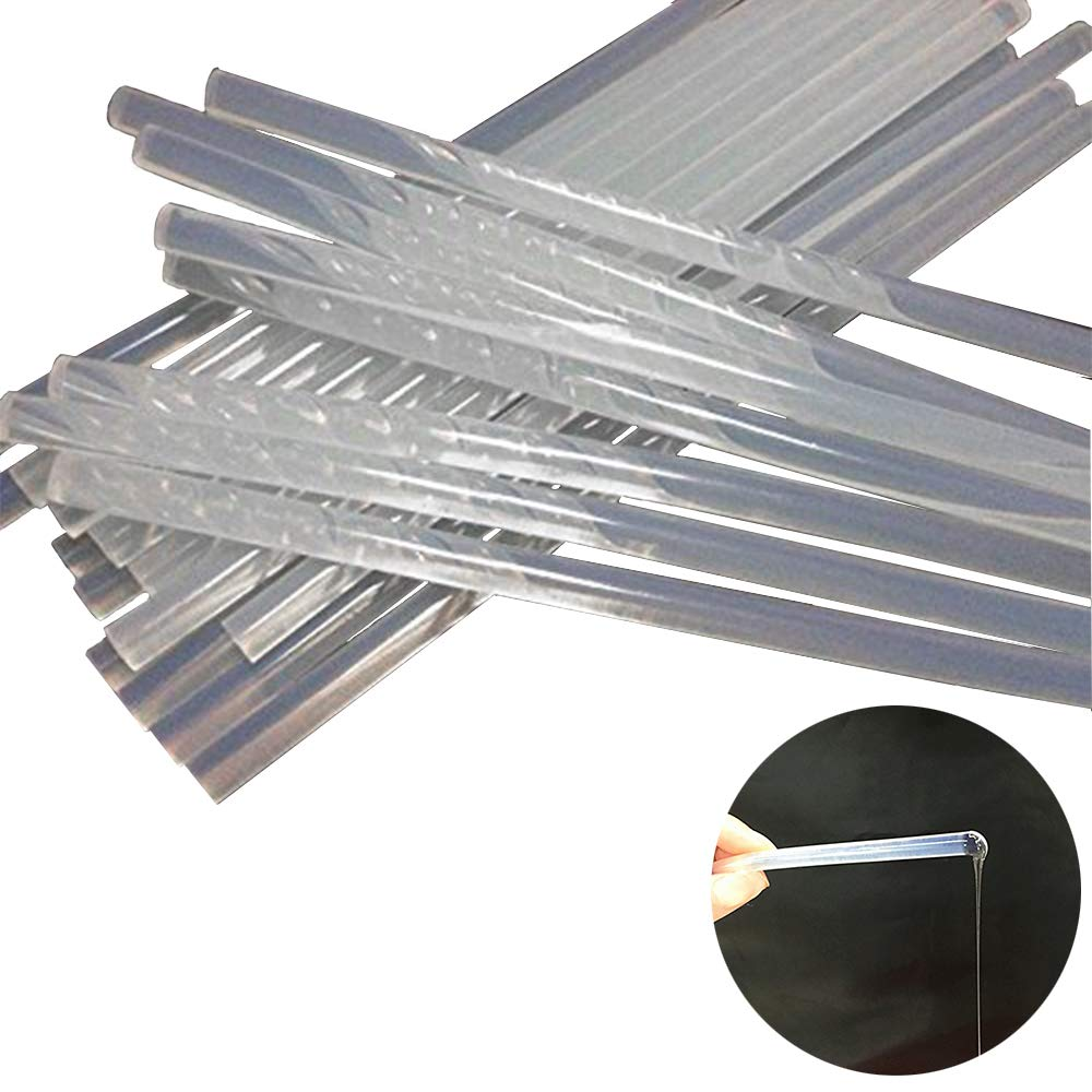 CUGBO 200 Pcs Transparent Hot Melt Glue Sticks 7mm (0.27'') for Mini Glue Gun