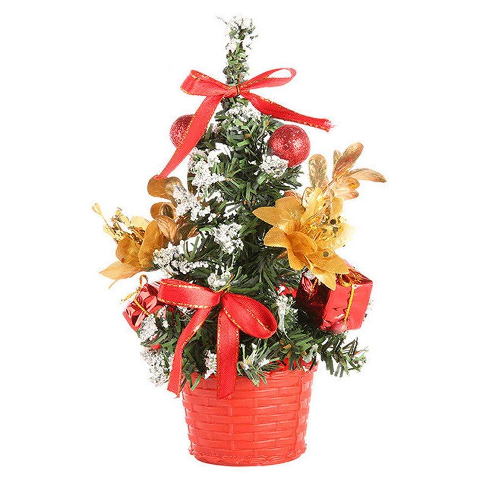 Bescita Artificial Mini Christmas Tree Festival Miniature Tree 20cm Tabletop Decorations (Gold) Bescita1