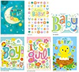 Peaceable Kingdom Congratulations Cards for New Babies - Box of 12 Cards and Envelopes
