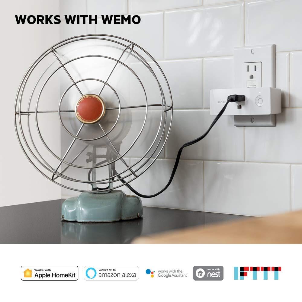 Wemo Mini Smart Plug (2-Pack), Wi-Fi Enabled, Works with Amazon Alexa (F7C063-RM2) (Certified Refurbished) by WeMo (Image #3)