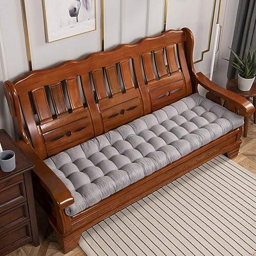 ZAIPP Indoor Outdoor Tufted Bench Cushion,Not-Slip Soft Swing Cushion Thick Settee Cushion Wicker Cushion Pillows