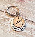 4 Down and Forever To Go 4th Anniversary Gift Coin Key Chain Lucky Copper 2014 Penny