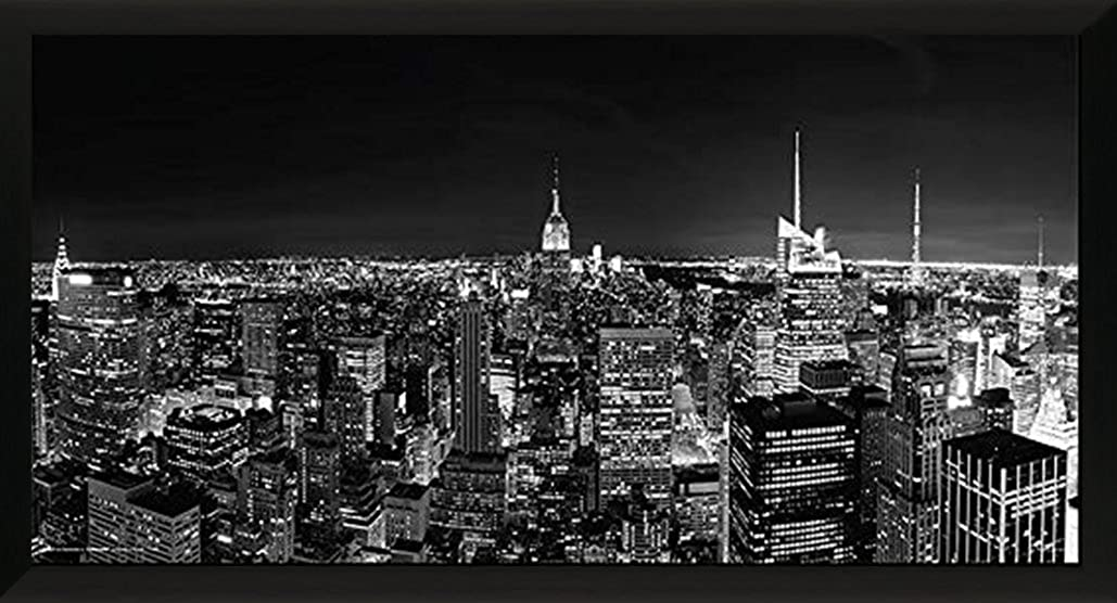New York City (NYC) Black and White Manhattan Skyline Decorative Photography Poster Print