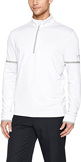 Caviar Black Men/'s Callaway Opti-Shield 1//4 Zip Pullover Sweatshirt