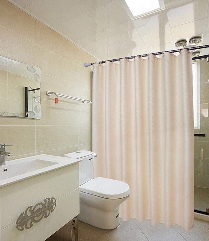 JaHGDU Shower Curtain 1pcs Shower Curtain Polyester Hotel Home Bathroom Amenities Opaque Plain Partition Bath Curtain Toilet Shade Super Quality (Color : 180cm200cm)