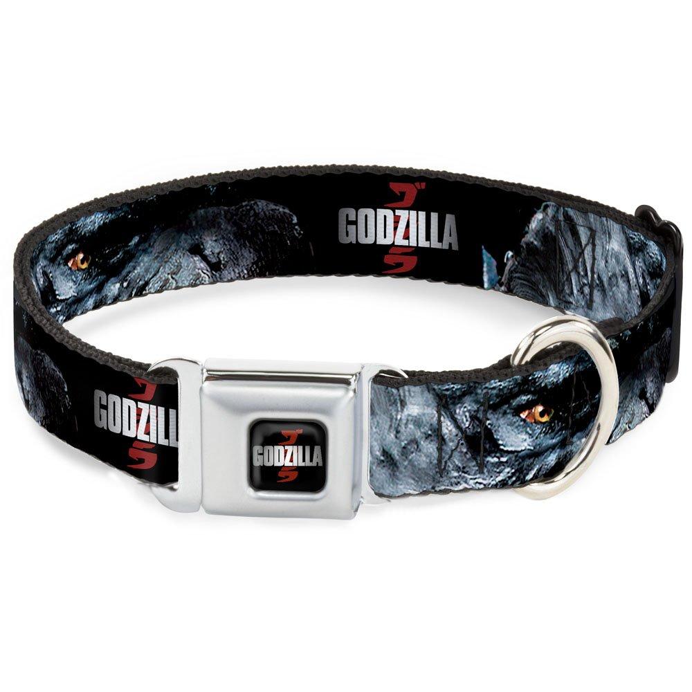 1.5\ Buckle-Down DC-WGZ009-WM Dog Collar Seatbelt Buckle, Godzilla Logo Eye C U, 1.5  by 16-23