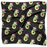 Funny Avocado Dabbing With Santa Hat Women's Fashion Print Square Scarf Neckerchief Headdress M