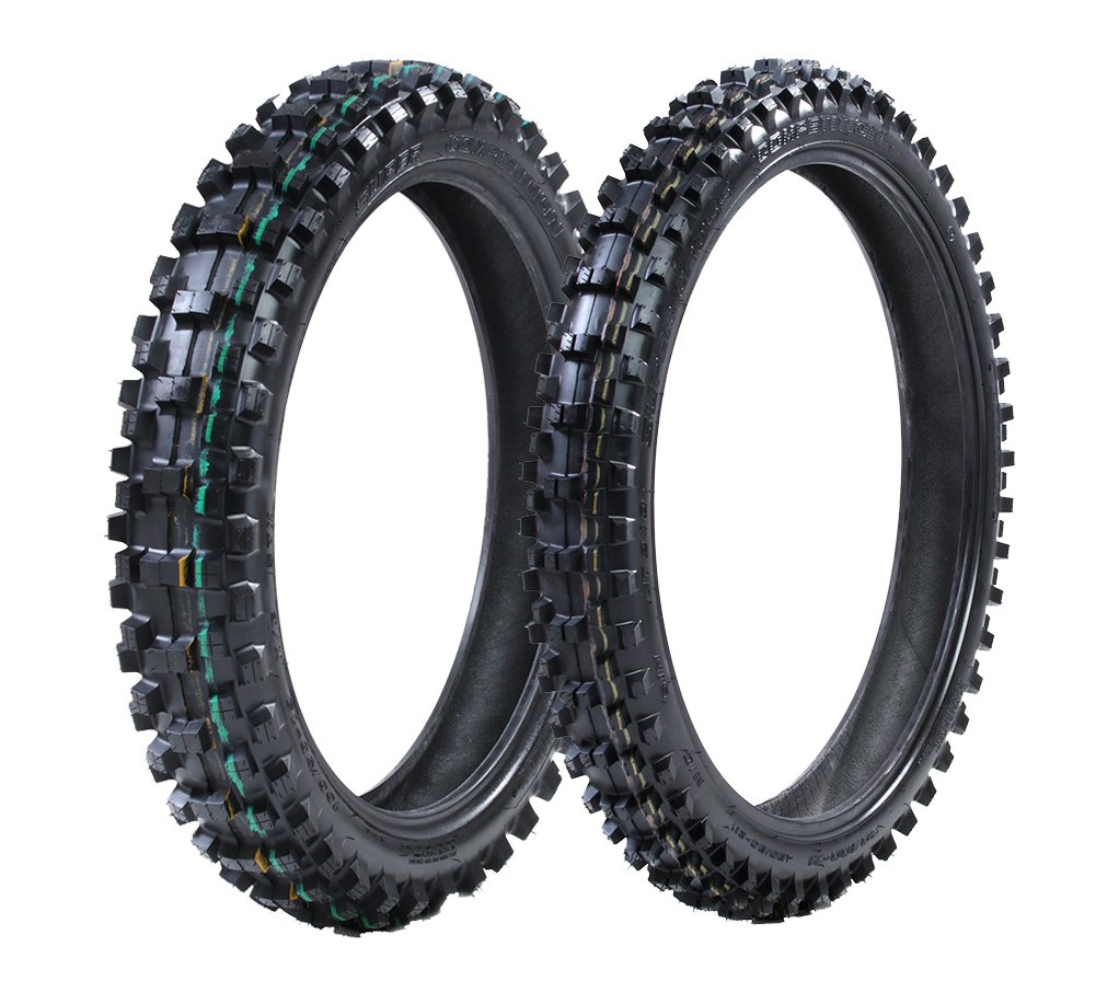 ProTrax Front 80/100-21 & Rear 100/90-19 Inch Tire Combo Soft to Intermediate Terrain