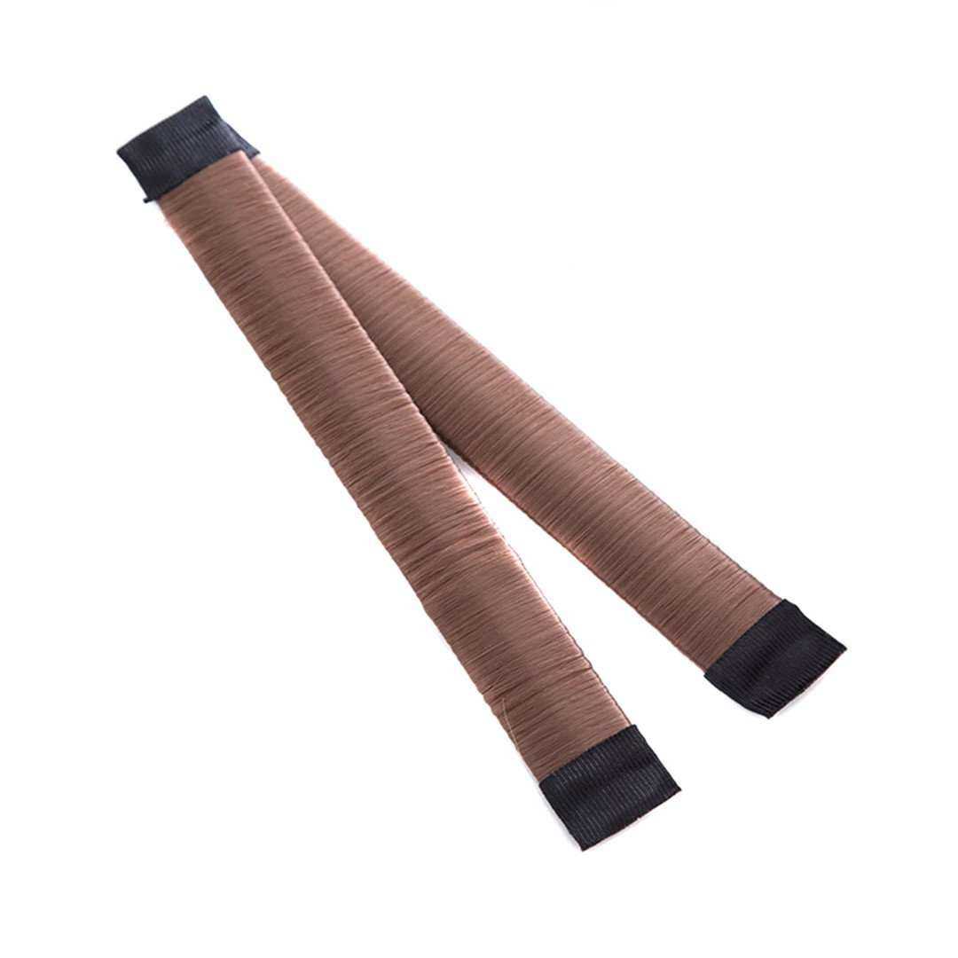 DIY Women Hair Accessory Ladies Foam Hair Band Wrap Styling Tool light brown by HAHUHERT (Image #1)