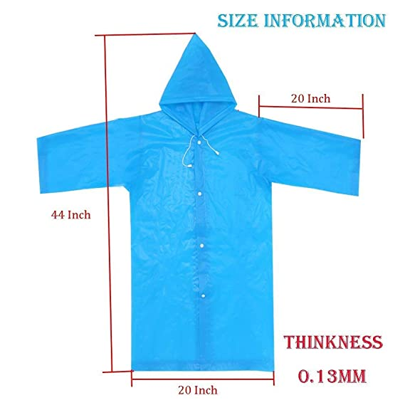 Amazon.com: Unisex Raincoat Rain Poncho Jacket Slicker Outwear for Kids Children[Reusable & Lightweight]Rain&Wind Coat Cloak Wear for 6-12 Y/O. Boys&Girls ...