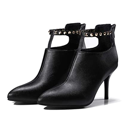 129b5ed2be091 Amazon.com : FCXBQ High Stiletto Heels Ankle Boots, Studded Short ...
