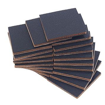 Schwarz, 2.6 x 2.6 cm Rechteckig Anti Rutsch Pad f/ür M/öbel zum Schutz von Fliesen Shintop 48 St/ück Anti Rutsch Gummi Selbstklebend Laminat Hartholzb/öden